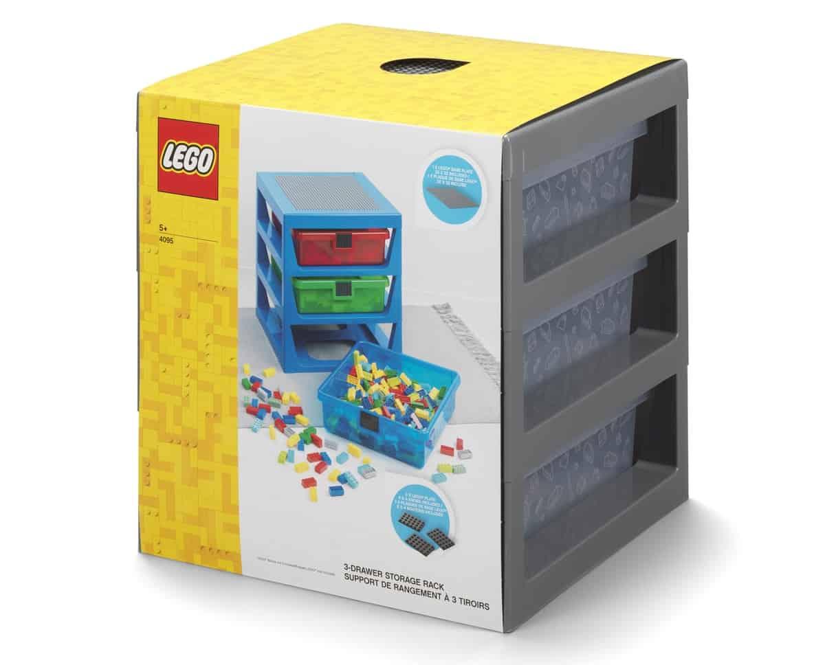 lego 5006608 3 drawer storage rack gray