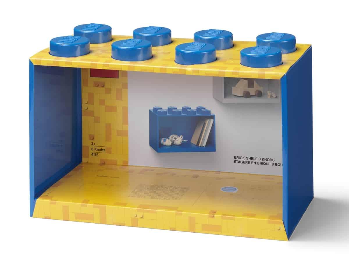 lego 5006609 brick shelf 8 knobs blue