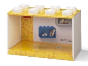 lego 5006611 brick shelf 8 knobs white