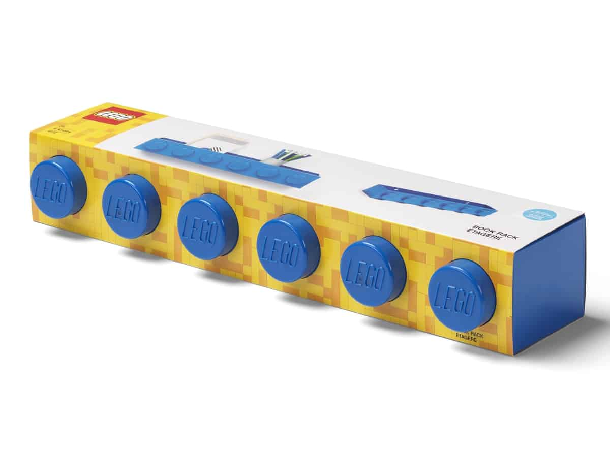 lego 5006613 brick bookrack blue