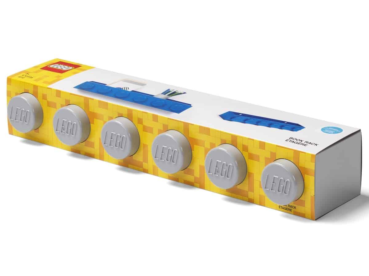 lego 5006617 brick bookrack grey
