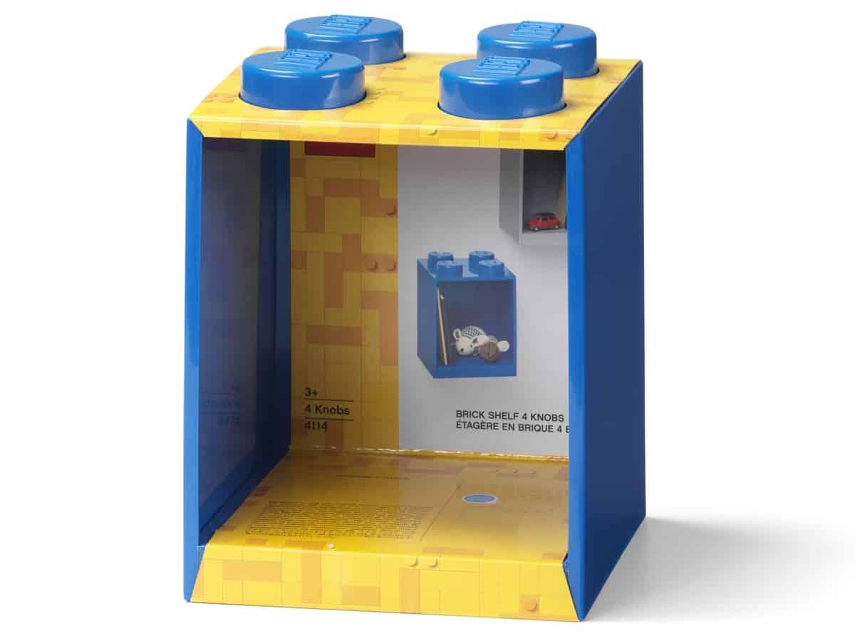 lego 5006618 brick shelf 4 knobs blue