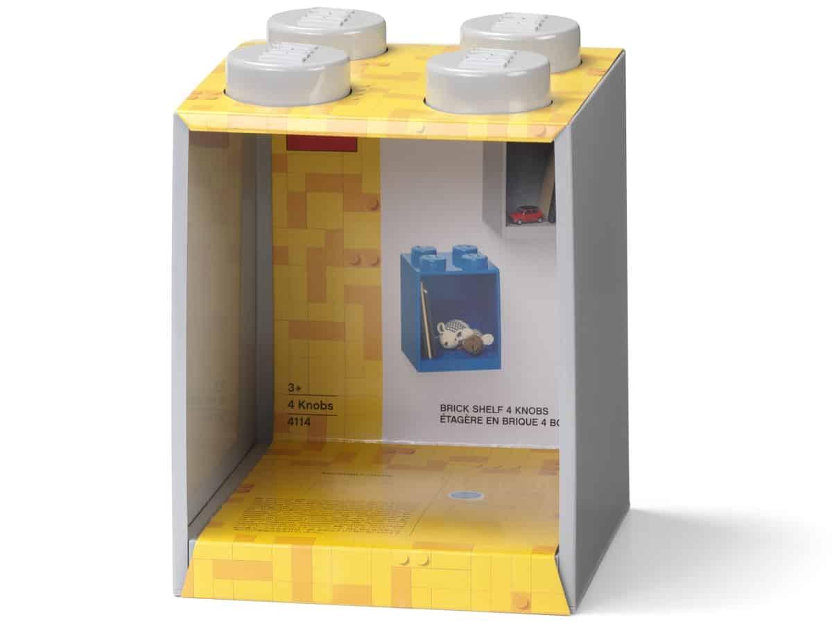 lego 5006621 brick shelf 4 knobs grey