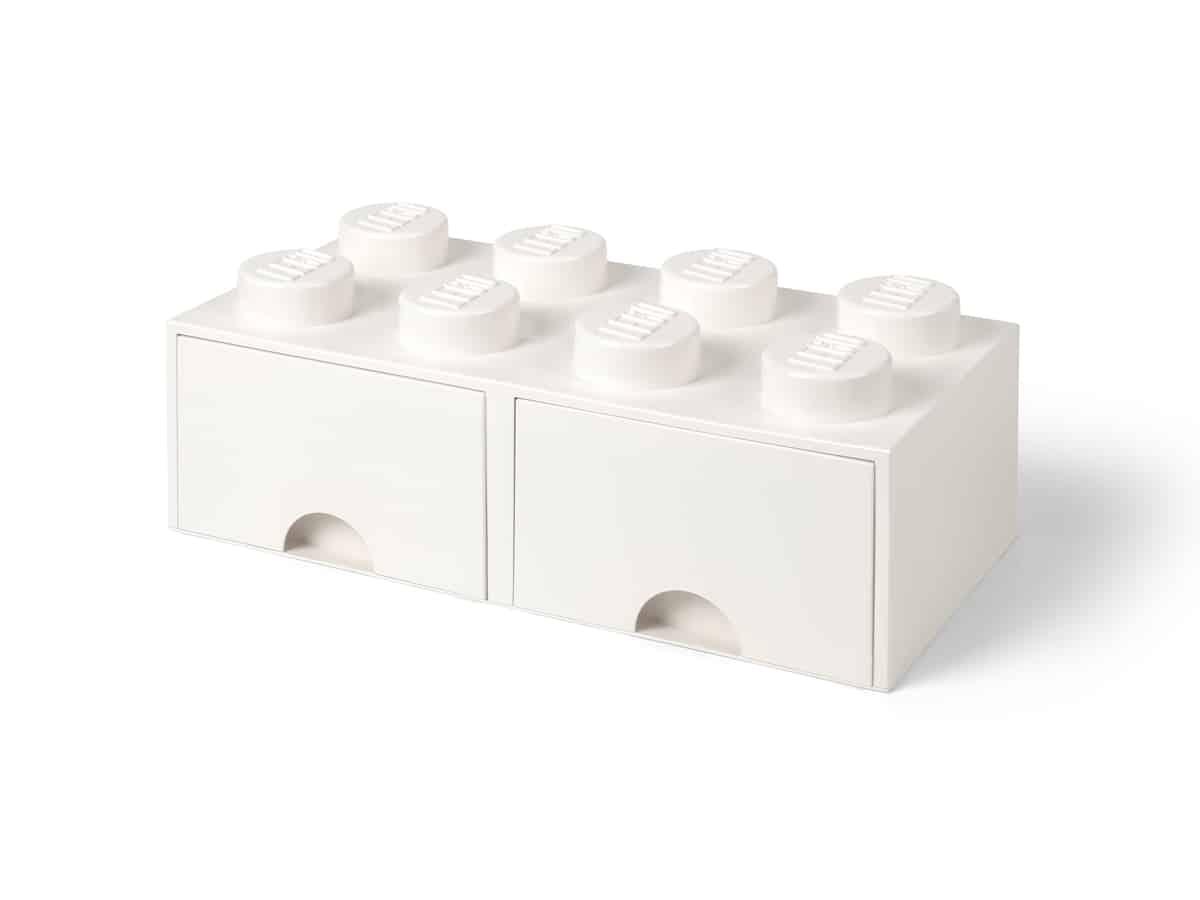 lego 5006209 8 stud brick drawer white