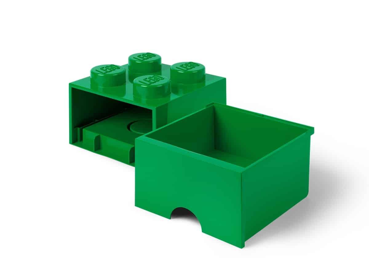 lego 5006871 4 stud brick drawer green